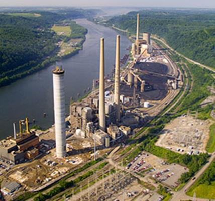Cardinal Power Plant at Power-plant Scrubbers