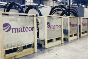 MATCOR Sea-Bottom Marine Anode Sleds ready to ship for cathodic protection of a seawall for a US oil company.