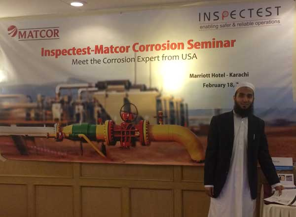 Inspectest, MATCOR representative for Pakistan, shares expertise at a recent corrosion seminar