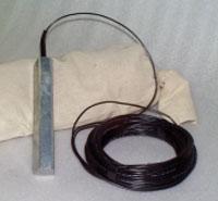 Underground zinc reference electrode