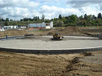 The ideal sand bedding supports tank corrosion protection and long service life.