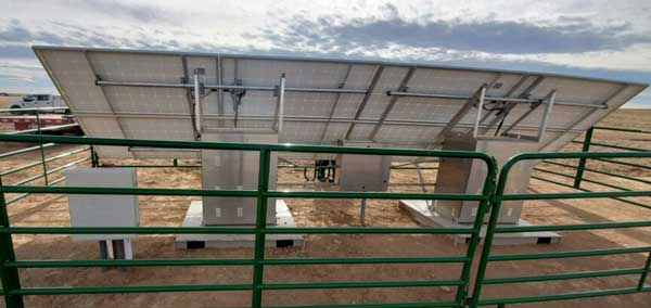 solar powered cathodic protection system installed in Wyoming