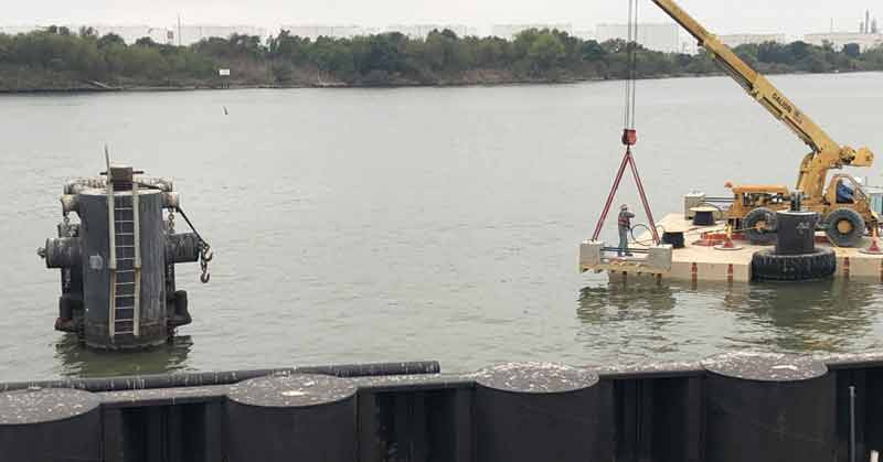 MATCOR sled anode installation for ship terminal corrosion prevention along the Houston ship channel