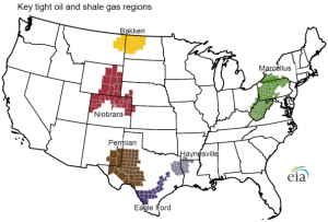 Energy Report - Gas Regions in US